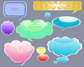 Vectors bubbles set. Stock Images