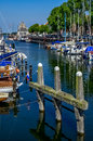 Veere harbour in the netherlands of historic town of on former island walcheren zeeland Stock Photography