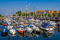 Veere harbour in the netherlands of historic town of on former island walcheren zeeland Stock Images