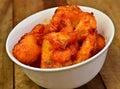 Veg manchurian indian indo chinese snack prepared from cauliflower and cornflour Stock Image