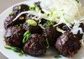 Veg manchurian indo chinese soy cauliflower balls Royalty Free Stock Photography
