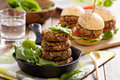 Vegan burgers with beans and vegetables Stock Image