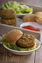 Vegan burgers with chickpeas and vegetables Royalty Free Stock Image