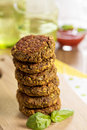 Vegan burgers with lentils and pistashios Stock Photo