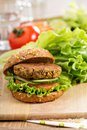 Vegan burgers with lentils and pistashios Royalty Free Stock Photography