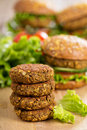Vegan burgers with lentils and pistashios Stock Image