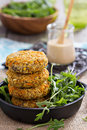 Vegan burgers with sweet potato and chickpeas Stock Photography
