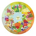 Vegan calendar illustrated of various vegetables and fruits Royalty Free Stock Photos