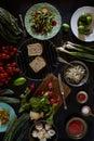 Vegan Food Ingredients Assortment