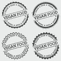 Vegan food insignia stamp isolated on white.