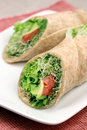 Vegan great wraps Stock Photo