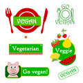 Vegan icon set Stock Images