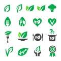 vegan icon set Royalty Free Stock Photo