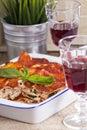 Vegan lasagna with tofu Royalty Free Stock Photo