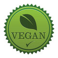Vegan Seal Royalty Free Stock Photo