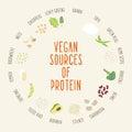 Vegan sources of protein.