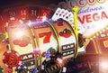 Vegas Casino Games Concept Royalty Free Stock Photo