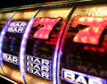Vegas slot machine a close up of a photographed in las Royalty Free Stock Photography