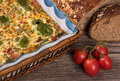 Vegetable baked pudding Royalty Free Stock Photo