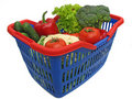 Vegetable basket Stock Photos