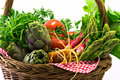 Vegetable Basket Stock Image