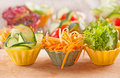 Vegetable canapes fresh organic salad Stock Image