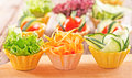 Vegetable canapes fresh organic salad Royalty Free Stock Images