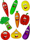 Vegetable cartoon Royalty Free Stock Photo