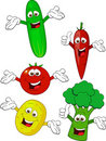 Vegetable cartoon Stock Photos