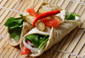 Vegetable chapatti rolls Royalty Free Stock Photos