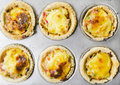 Vegetable and Cheese Tart Royalty Free Stock Photos