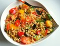 Vegetable cous cous meal Stock Image
