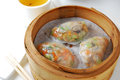 Vegetable dumpling dim sum Royalty Free Stock Photos