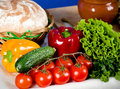 Vegetable and food ingredients Royalty Free Stock Photography