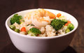 Vegetable fried rice homemade healthy on the table Royalty Free Stock Image