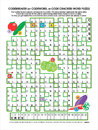 Vegetable garden codebreaker word puzzle Royalty Free Stock Image