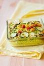 Vegetable gratin Stock Image