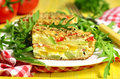 Vegetable gratin. Royalty Free Stock Photo