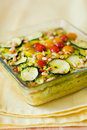 Vegetable gratin(quiche) Royalty Free Stock Photo
