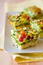 Vegetable gratin(quiche) Stock Photography
