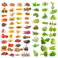 Vegetable, herb, spices isolated on white background Royalty Free Stock Photo
