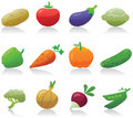 Vegetable icons Stock Image