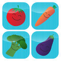 Vegetable Icons Stock Images