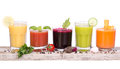 Vegetable juice variety Royalty Free Stock Photo