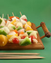 Vegetable kabobs Stock Photography