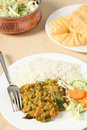 Vegetable korma and salad Stock Photography