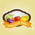 Vegetable label Royalty Free Stock Images
