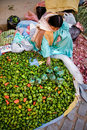 Vegetable market, Bolivia Royalty Free Stock Photography