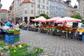 Vegetable market brno czech republic Stock Images