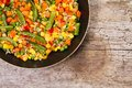 Vegetable mix in the pan Royalty Free Stock Photo